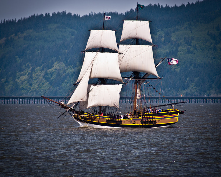The Lady Washington was there in Astoria to celebrate the town's 200th birthday