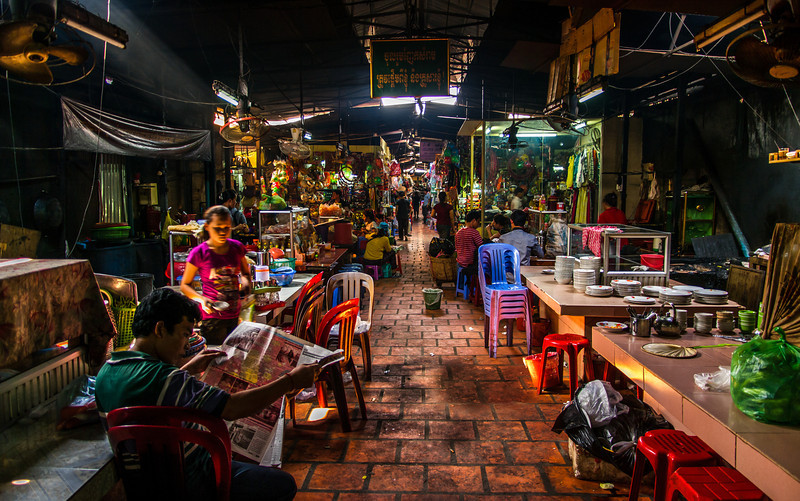 Inside the Russian Market, Phnom Penh, Cambodia